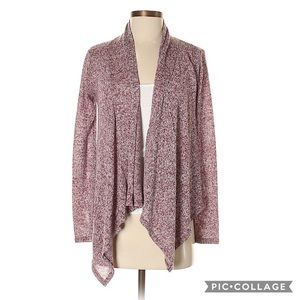 About A Girl Burgundy Open Cardigan